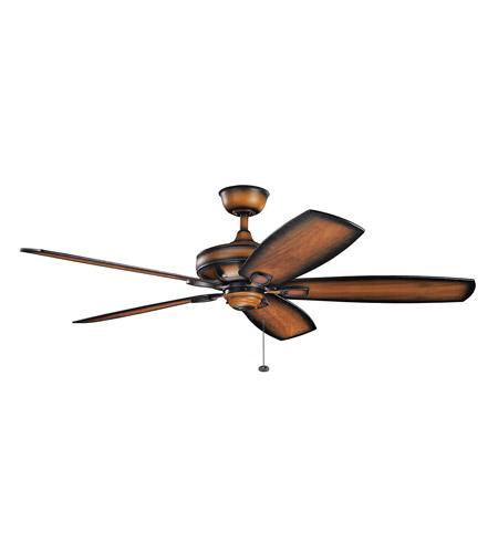 Kichler 300269MDW Ashbyrn 60 Inch Mediterranean Walnut With Shadowed Blades Ceiling Fan
