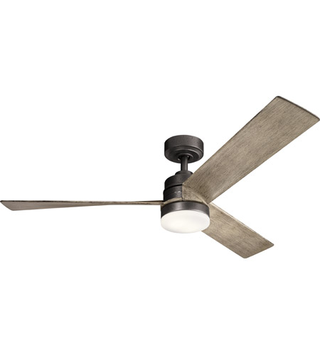 Kichler 300275AVI Spyn 52 inch Anvil Iron with DSTRD ANTQ GRY Blades Ceiling Fan photo