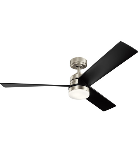 Kichler 300275NI Spyn 52 inch Brushed Nickel with Black Blades Indoor Ceiling Fan photo