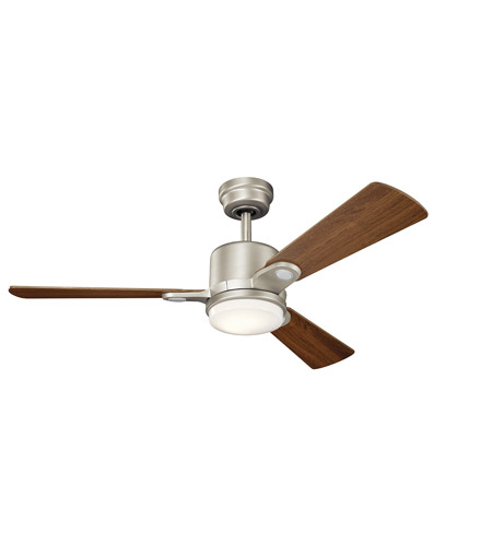 ... Celino 48 inch Brushed Nickel with Walnut/Cherry Blades Ceiling Fan