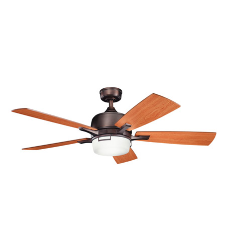 Kichler 300427OBB Leeds Oil Brushed Bronze with Walnut Ms-97503 Blades Fan photo