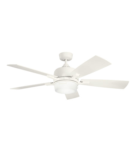 Kichler Lighting Leeds 2 Light Fan in Satin Natural White 300427SNW photo