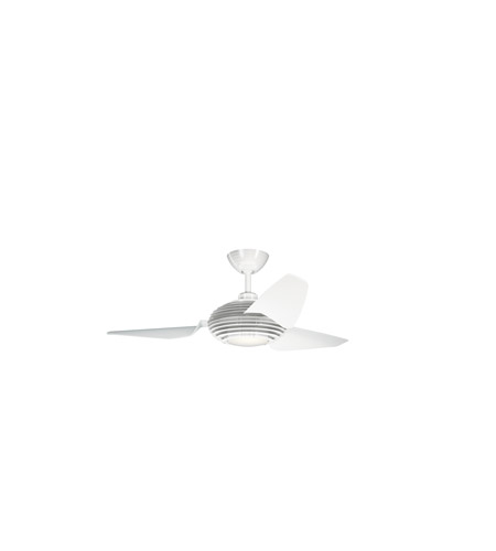 Kichler 300708WH Voya 50 inch White with Clear White Blades Ceiling Fan photo