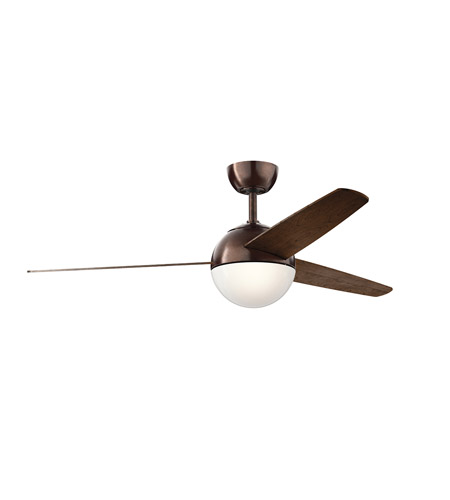 kichler 300710obb bisc 56 inch oil brushed bronze with blades ceiling fan - Kichler Fans
