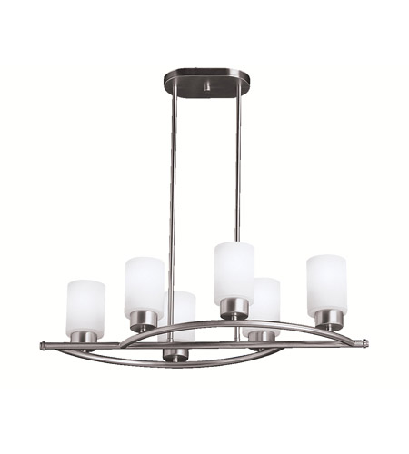 Kichler Lighting Modena 6 Light Island Light in Brushed Nickel 3031NI photo