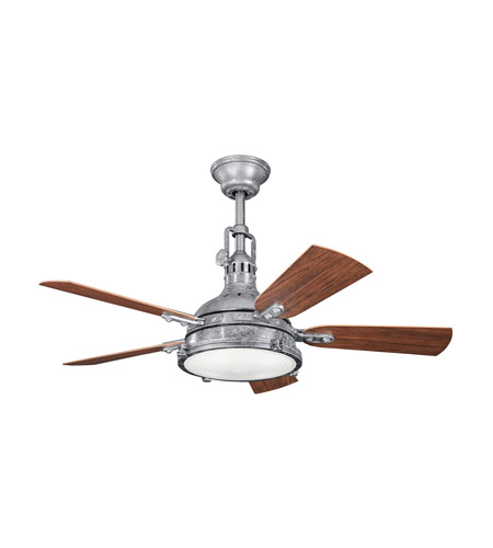Kichler 310101GST Hatteras Bay Patio 44 inch Galvanized Steel with Walnut MS-97503 Blades Fan photo