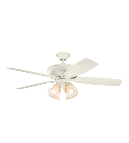 Kichler Lighting Monarch II Patio Fan in Adobe Cream 310103ADC photo