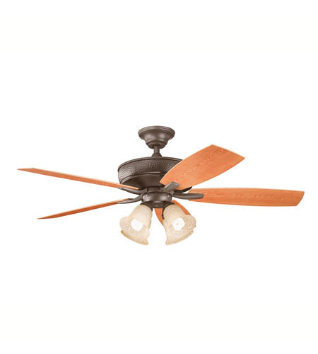 Kichler Lighting Monarch II Patio 4 Light Fan in Tannery Bronze Powder Coat 310103TZP