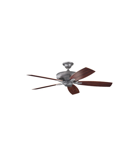 Kichler Lighting Monarch II Patio 4 Light Fan in Weathered Steel Powder Coat 310103WSP