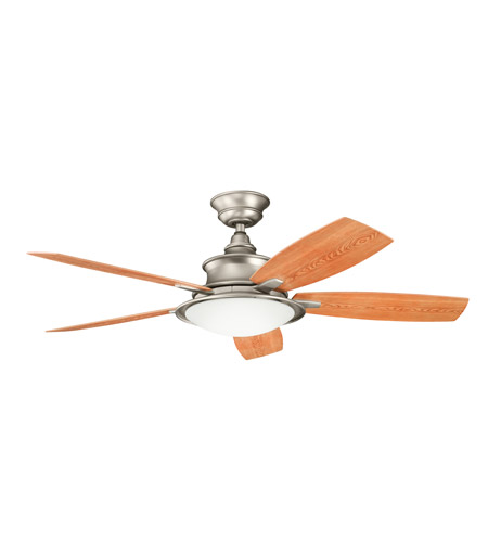 Kichler 310104NI Cameron Brushed Nickel with Walnut Ms-97503 Blades Outdoor Fan photo