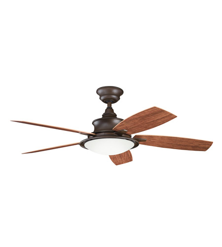 Kichler 310104TZP Cameron Tannery Bronze Powder Coat with Walnut Ms-97503 Blades Outdoor Fan photo