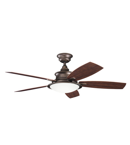 Kichler 310104WCP Cameron Weathered Copper Powder Coat with Walnut Ms-93801 Blades Outdoor Fan photo