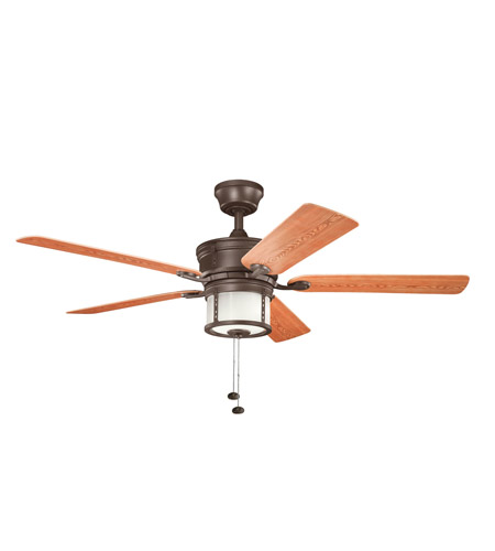 Kichler Lighting Deckard 3 Light Fan in Tannery Bronze Powder Coat 310105TZP photo