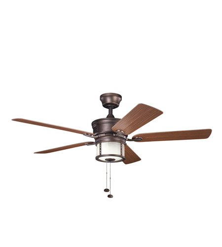 Kichler Lighting Deckard 3 Light Fan in Weathered Copper Powder Coat 310105WCP photo