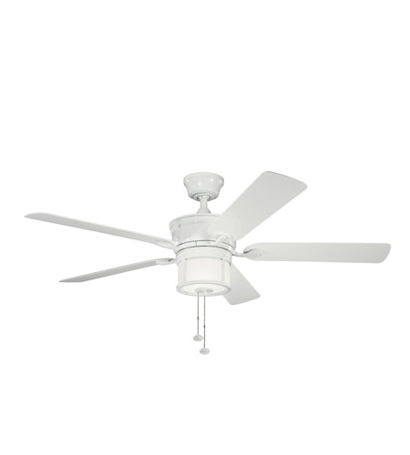 Kichler Lighting Deckard 3 Light Fan in White 310105WH photo