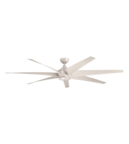 Kichler 310115ANS Lehr 80 inch Antique Satin Silver Outdoor Ceiling Fan photo