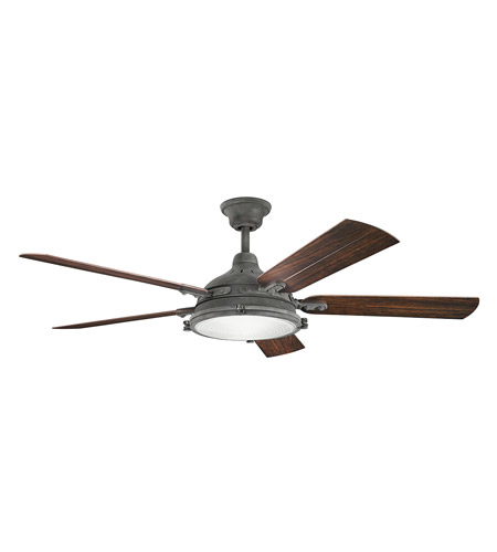 Kichler 310117wzc hatteras bay patio 60 inch weathered zinc with kichler 310117wzc hatteras bay patio 60 inch weathered zinc with walnut blades ceiling fan photo mozeypictures Images