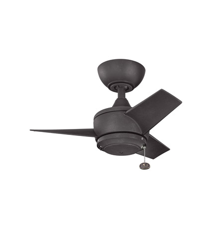 Kichler Yur Fan in Distressed Black 310124DBK photo