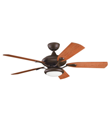 Kichler Lighting Aldrin Patio Fan in Tannery Bronze Powder Coat 310127TZP