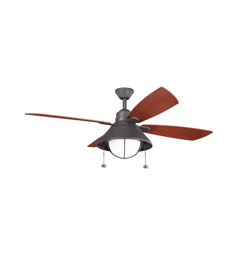 Kichler Seaside 1 Light Fan in Distressed Black 310131DBK
