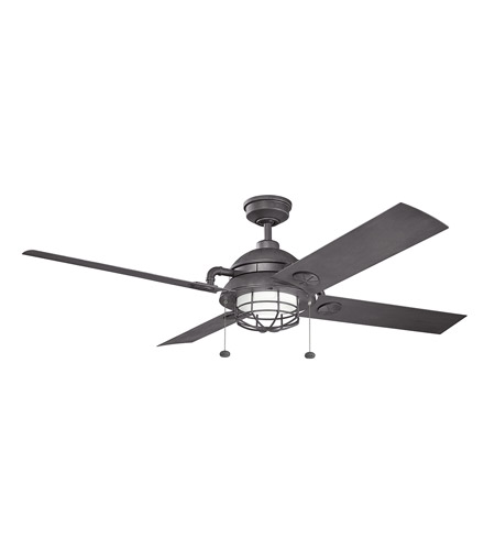 Kichler 310136DBK Maor 65 inch Distressed Black with DISTRESD BLACK/NON-REVERSIBLE Blades Ceiling Fan photo