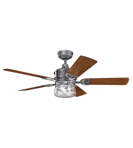 Kichler 310139wsp lyndon patio 52 inch weathered steel powder coat kichler 310139wsp lyndon patio 52 inch weathered steel powder coat with walnut blades ceiling fan aloadofball Choice Image