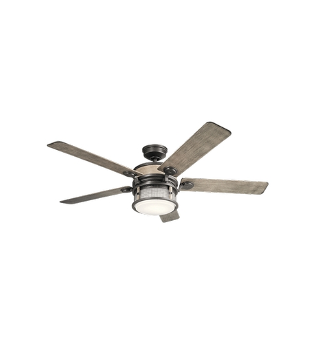 Kichler 310170AVI Ahrendale 60 inch Anvil Iron with Distressed Antique Grey Blades Ceiling Fan photo