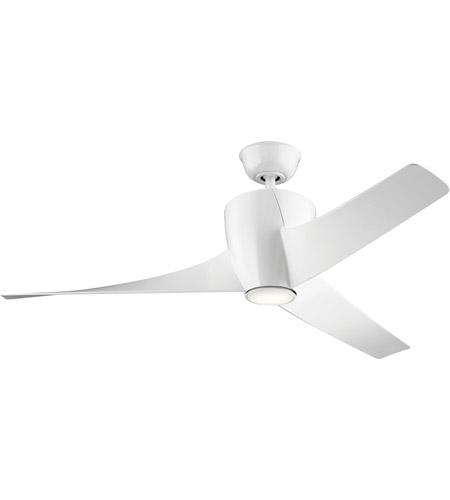 Kichler 310175wh phree 56 inch white ceiling fan aloadofball Gallery