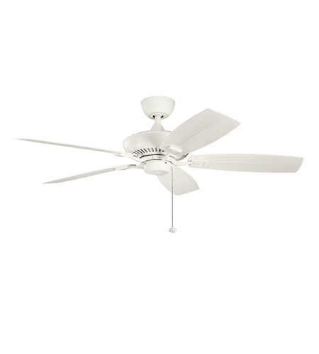 Kichler Lighting Canfield Fan in Satin Natural White 310192SNW