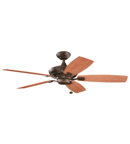Kichler 310192TZP Canfield Patio Tannery Bronze Powder Coat with Walnut Blades Outdoor Fan photo