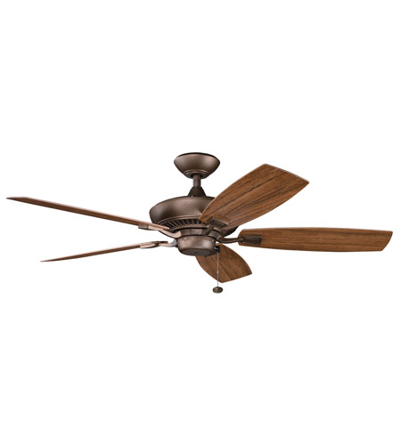 Kichler Lighting Canfield Patio Fan in Weathered Copper Powder Coat 310192WCP