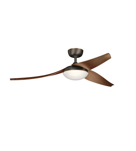 Kichler 310700OZ Signature 60 inch Olde Bronze with Walnut Blades Ceiling Fan photo
