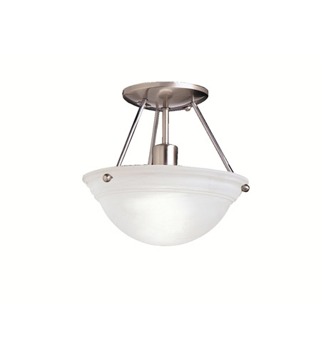Kichler Lighting Cove Molding Top Glass 1 Light Semi-Flush in Brushed Nickel 3121NI