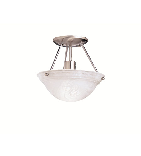 Kichler Lighting Cove Molding Top Glass 1 Light Semi-Flush in Brushed Nickel 3121NIA