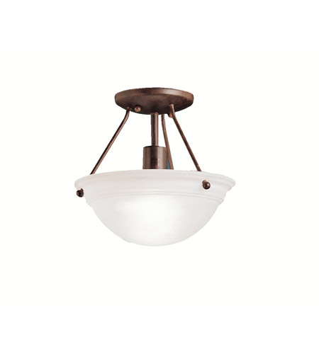 Kichler Lighting Cove Molding Top Glass 1 Light Semi-Flush in Tannery Bronze 3121TZ