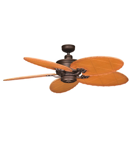 Kichler Lighting Crystal Bay Fan in Weathered Copper Powder Coat 320102WCP