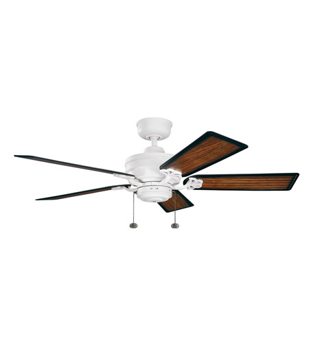 Kichler Lighting Crystal Bay Fan in Satin Natural White (Blades Sold Separately) 320510SNW photo