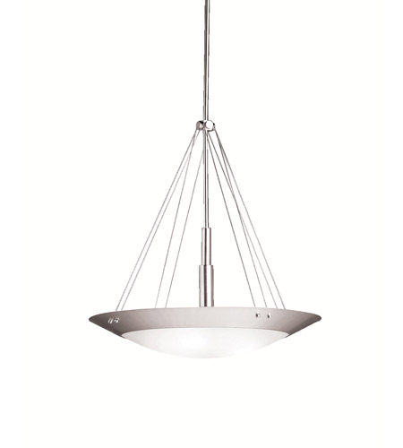 Kichler Lighting Structures 3 Light Inverted Pendant in Brushed Nickel 3244NI