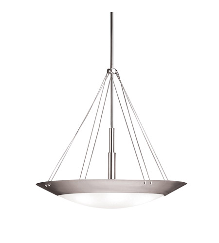 Kichler Lighting Structures 6 Light Inverted Pendant in Brushed Nickel 3245NI