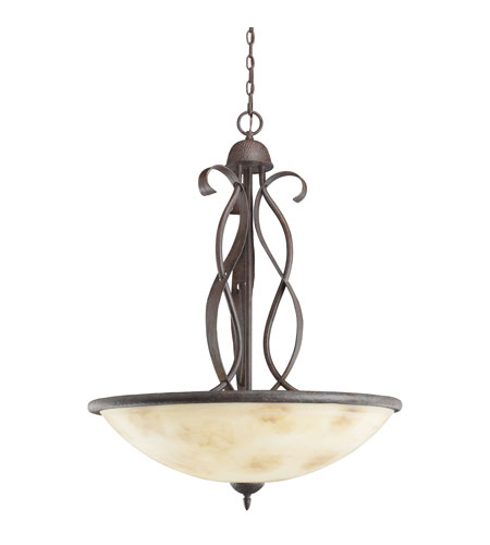 Kichler Lighting High Country 3 Light Inverted Pendant in Old Iron 3271OI photo