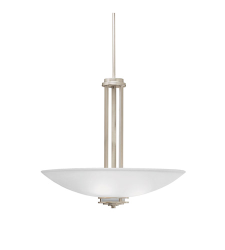 Kichler 3275NI Hendrik 3 Light 24 inch Brushed Nickel Inverted Pendant Ceiling Light photo