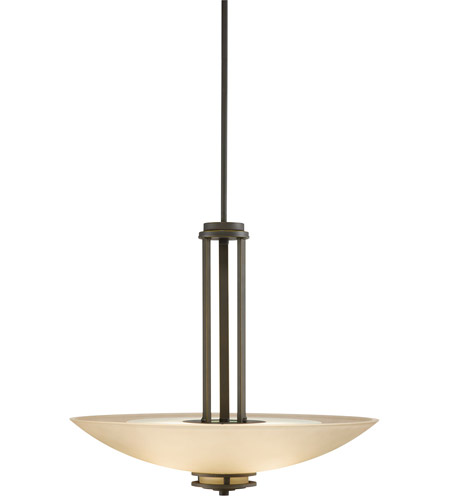 Kichler 3275OZ Hendrik 3 Light 24 inch Olde Bronze Inverted Pendant Ceiling Light, Medium photo