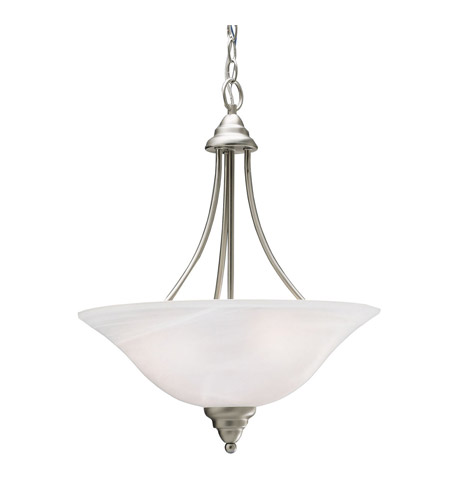 Kichler 3277NI Telford 3 Light 18 inch Brushed Nickel Inverted Pendant Ceiling Light photo