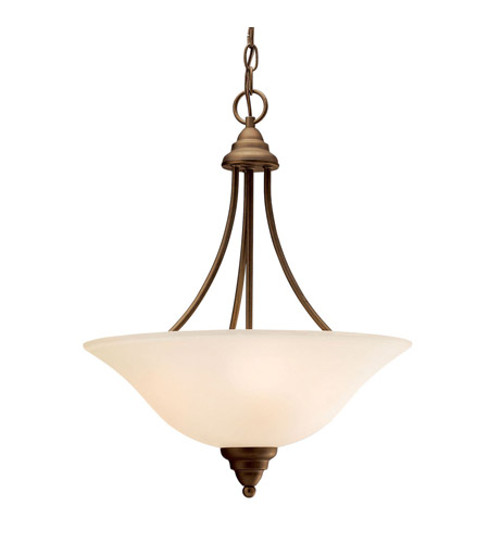 Kichler 3277OZ Telford 3 Light 18 inch Olde Bronze Inverted Pendant Ceiling Light photo