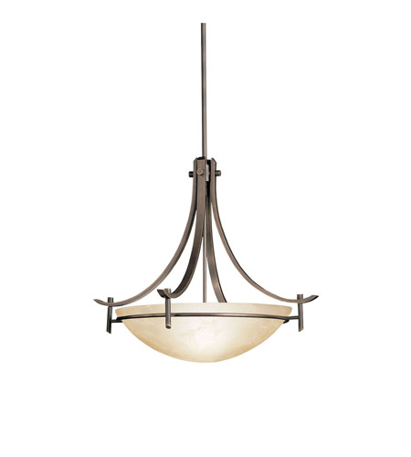 Kichler Lighting Olympia 3 Light Inverted Pendant in Olde Bronze 3278OZ photo