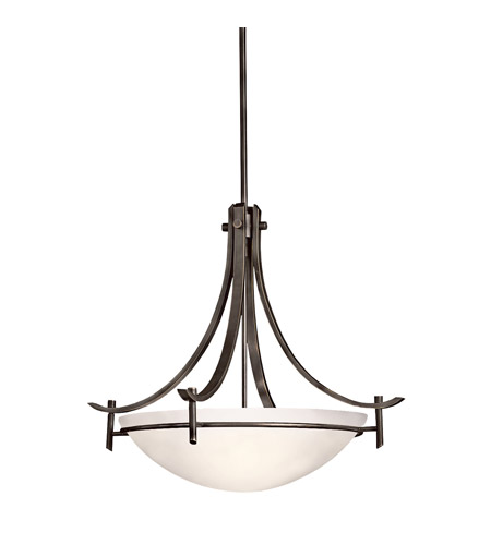Kichler Lighting Olympia 3 Light Inverted Pendant in Olde Bronze 3278OZW photo