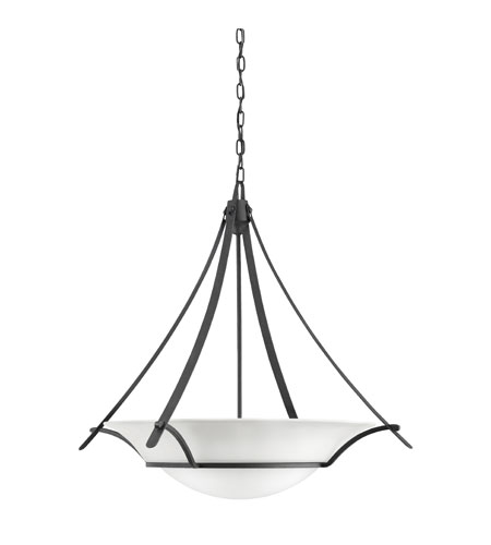 Kichler Lighting Signature Inverted Pendant 3Lt in Distressed Black 3291DBK photo