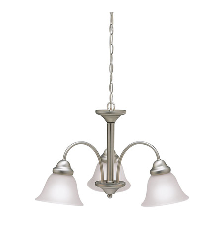 Kichler 3293NI Wynberg 3 Light 22 inch Brushed Nickel Chandelier Ceiling Light in Satin Etched Glass photo