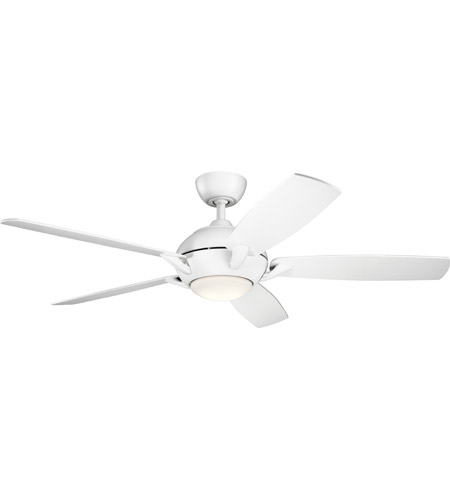 Kichler 330001MWH Geno 54 inch Matte White Ceiling Fan  photo