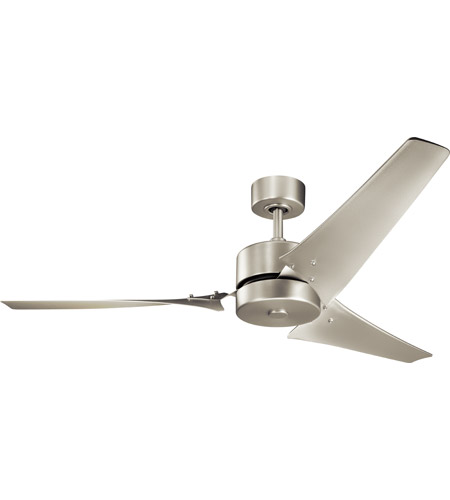 Kichler 330010NI Motu 60 inch Brushed Nickel with Nickel Blades Ceiling Fan photo